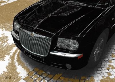Chrysler 300C Touring in black & brown