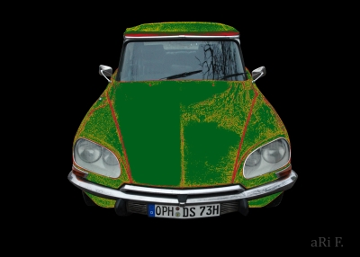 Citroen DS Pallas in black & green mixed