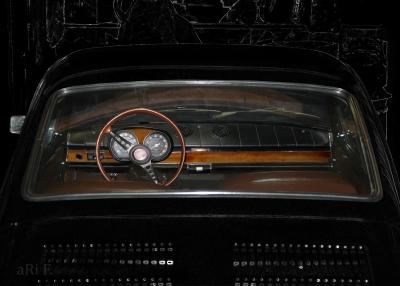 Fiat 850 Coupé Interieur in black 02