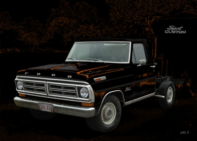 Ford F-100 in black & brown mix