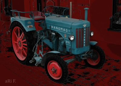 Hanomag R16 A in black & red