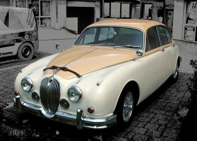 Jaguar Mark 2 3.8 Litre Poster in Originalfarbe