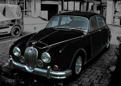 Jaguar Mark 2 3.8 Litre Poster in black