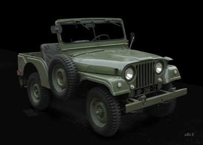 Willys Jeep M 38 A1 in black (Originalfarbe)