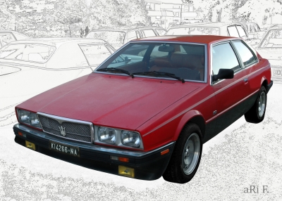 Maserati Biturbo Poster in Originalfarbe