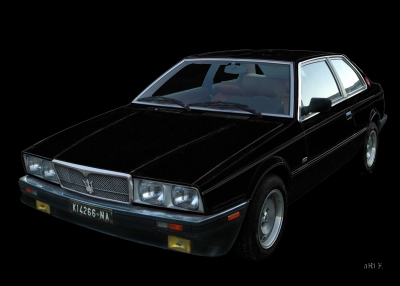 Maserati Biturbo in black & black