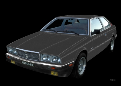 Maserati Biturbo in black & grey