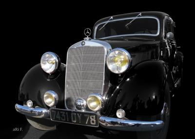 Mercedes-Benz Typ 170 V (W 136) Poster in schwarz-weiß