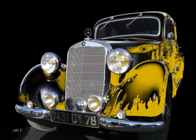 Mercedes-Benz Typ 170 V (W 136) in black & yellow