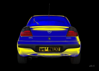 Opel Tigra in blue & yellow 02