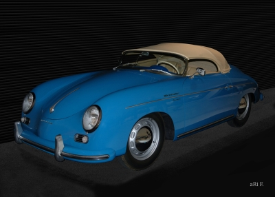 Poster Porsche 356 A 1500 Speedster in original color