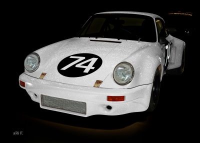 Poster Porsche 911 Carrera RSR 3.0 Poster in experimental white