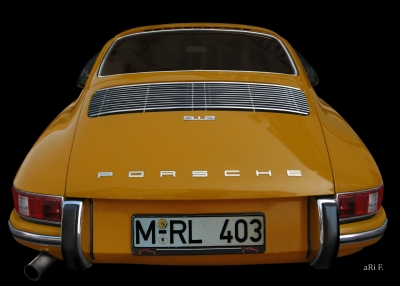 Porsche 912 Poster in Originalfarbe