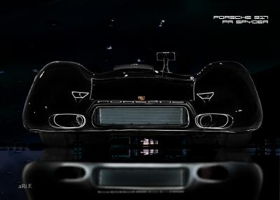 Porsche 917 PA Spyder Poster in black