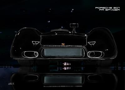 Porsche 917 PA Spyder Poster in darkblack