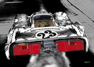 Porsche 917/20 Poster in white