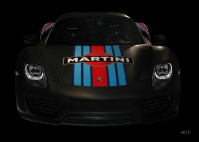 Porsche 918 Spyder Poster in darkblack