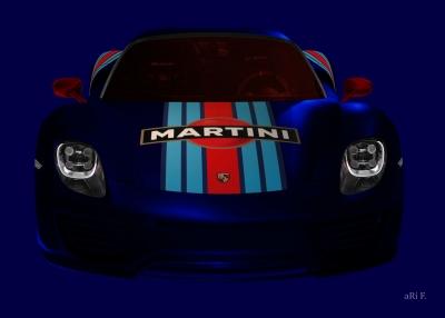 Porsche 918 Spyder Poster in darkblue