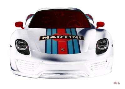 Porsche 918 Spyder Poster in white