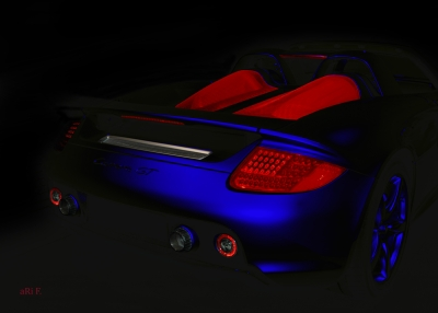Porsche Carrera GT (Typ 980) in black & blue