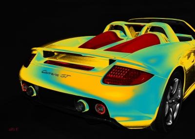 Porsche Carrera GT (Typ 980) Poster in yellow mix