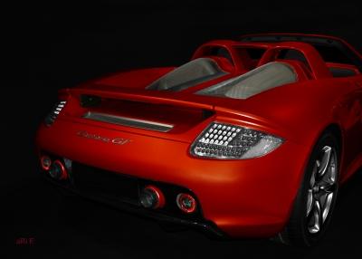 Porsche Carrera GT (Typ 980) Poster in hot red
