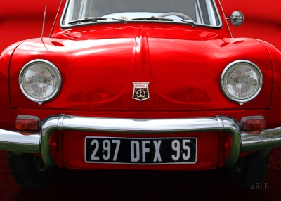 Renault Dauphine in red & red, France