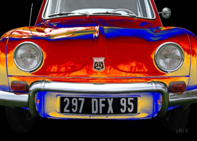 Renault Dauphine Poster in France mixed-red