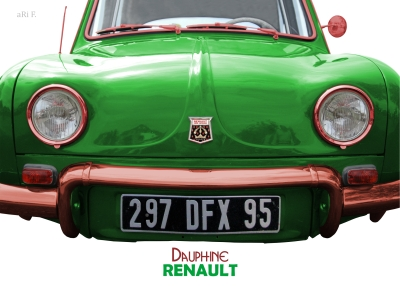 Renault Dauphine Poster in green, France