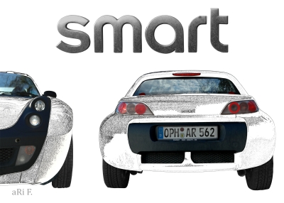 smart Roadster two in white