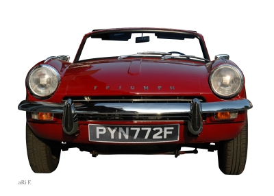 Triumph Spitfire Mk3 Poster in original colors