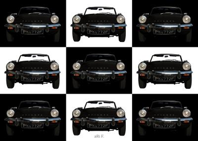 Triumph Spitfire Mk3 in black & white minimalism
