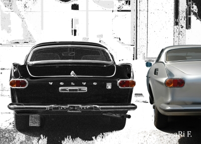 Volvo P1800 with silver Originalphoto Poster