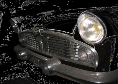 Simca Vedette Chambord Poster in black (1954-1966)
