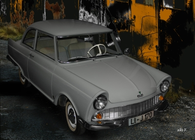 DKW Junior in black & grey (Originalfarbe)