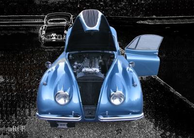Jaguar -XK 120 Coupé Oldtimerfoto