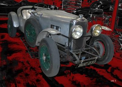 Lagonda Rapier Le Mans Poster in red & black
