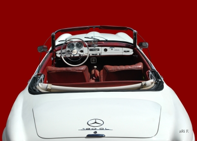 Mercedes-Benz 190 SL in red & white (Originalfarbe)
