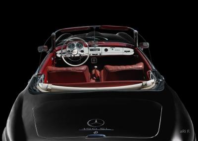 Mercedes-Benz 190 SL Poster in black & black