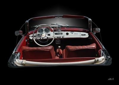 Mercedes-Benz 190 SL Interieur in black pure 02