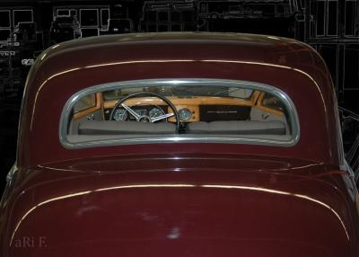 Mercedes-Benz 170 S (W136 IV Rückansicht) in black & brown (Originalfoto)