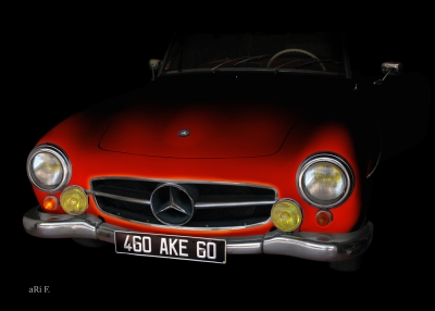 Mercedes-Benz 190 SL in minimalism in red 01