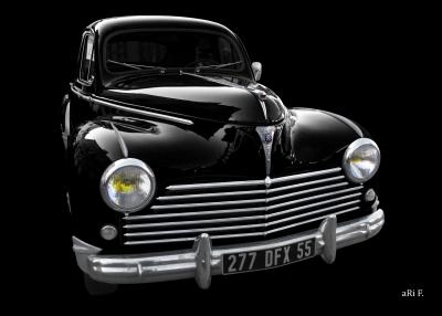 Peugeot 203 in black & black