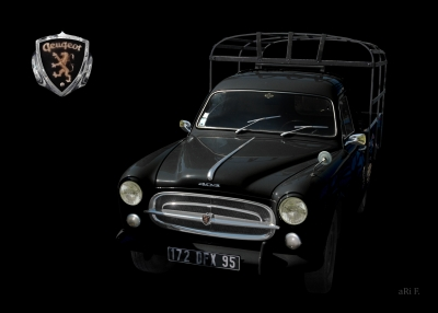 Peugeot 403 Camion Poster in black