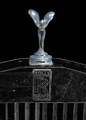 """Rolls-Royce - Emily """"Spirit of Ecstasy"""" Poster in schwarz-weiß"""