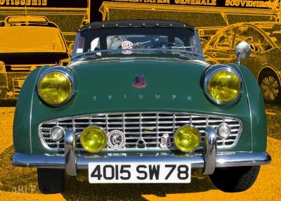 Triumph TR3 in green (Originalfoto) 1955 - 1962