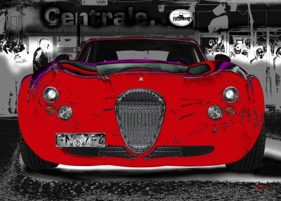 Wiesmann GT FM4 in black & red