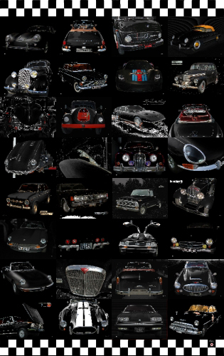 Oldtimer Poster with 32 Classic Cars 02