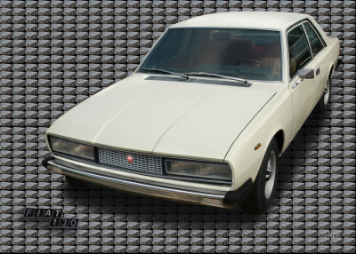 Fiat 130 Coupé with mirror (Originalfarbe)