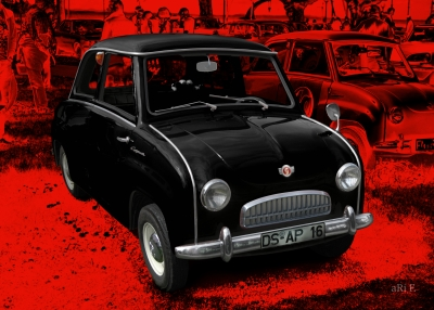 Goggomobil T in red & black